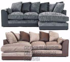 UK EXPRESS DELIVERY | SPECIAL OFFER | DYLAN JUMBO CORD BLK/GREY LH/RH CORNER SOFA | 1 YEAR WARRANTY