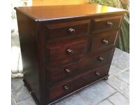 Large - Mahogany Stained - Chest Of Drawers.