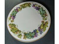 Royal Worcester Vine Harvest Cake Plate and Matching Cake Knife