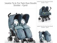 Two fro cosatto twin pushchair