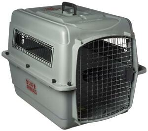 NEW Petmate 00200 Sky Kennel for Pets from 25 to 30-Pound, Light Gray