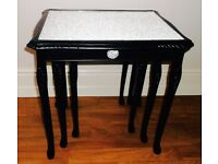 BEAUTIFULLY UPCYCLED NESTS OF TABLES X 2 SETS