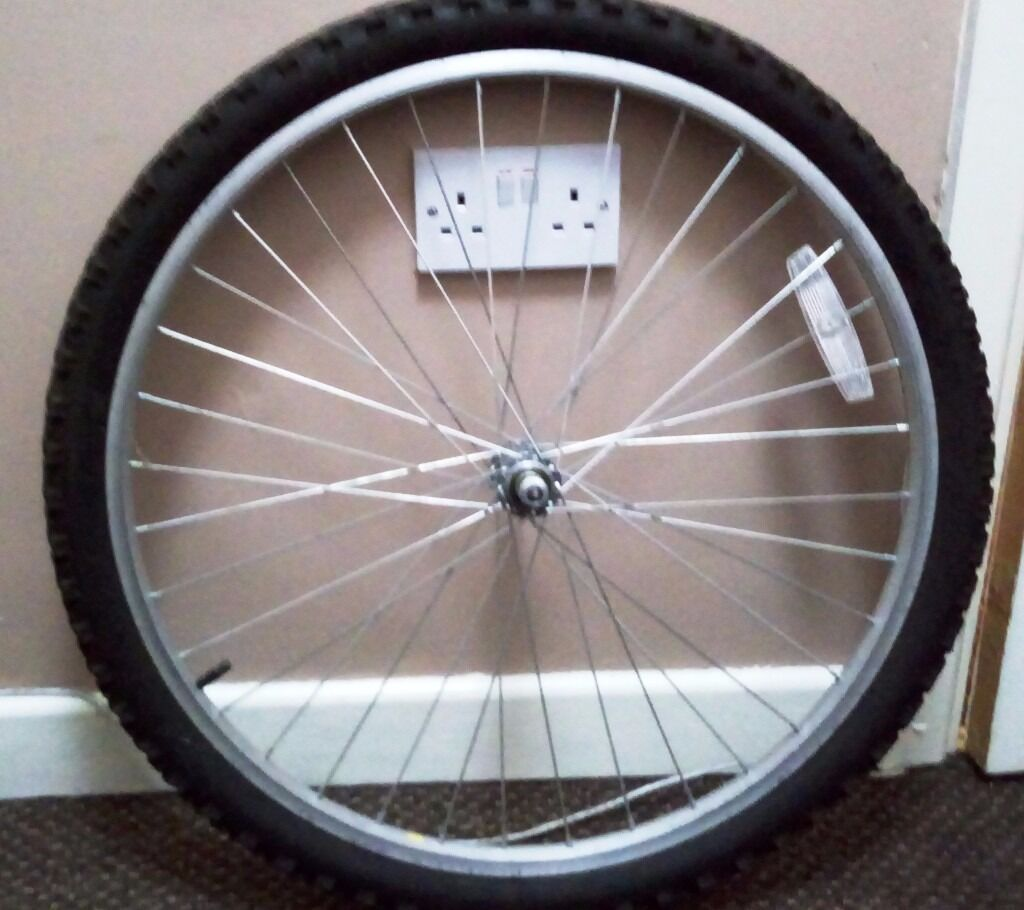Mountain bike front wheel 26in Victoria Park, ManchesterGumtree - Mountain bike front wheel 26 complete with tyre and inner tube, good condition, not much used. 5GBP Collection only m14 5hz longsight text message preferable