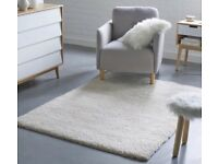 White Shaggy Thick Warm Fluffy Soft Living Room Floor Bedroom Rug