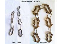 ***Lovely Vintage Brass Lighting Chain Hanger Loop Chandelier Light Antique – From £25***