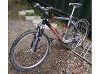"Saracen N-zyme mountain bike, 18"" medium size aluminium frame, SRAM 3.0 24 speed gears, 26"" wheels"