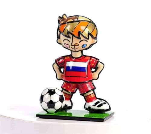 Romero Britto World Cup Mini Miniature Soccer Player Figurine Russia New in Box