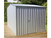 Absco 7'5 x 9'10 Zinc Metal Shed