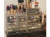 Acrylic Make-up Storage