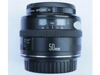 Canon EF50mm F1.8 mk I with ES-65 and ET-65 hoods