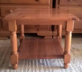 Solid pine bedside table in decent condition