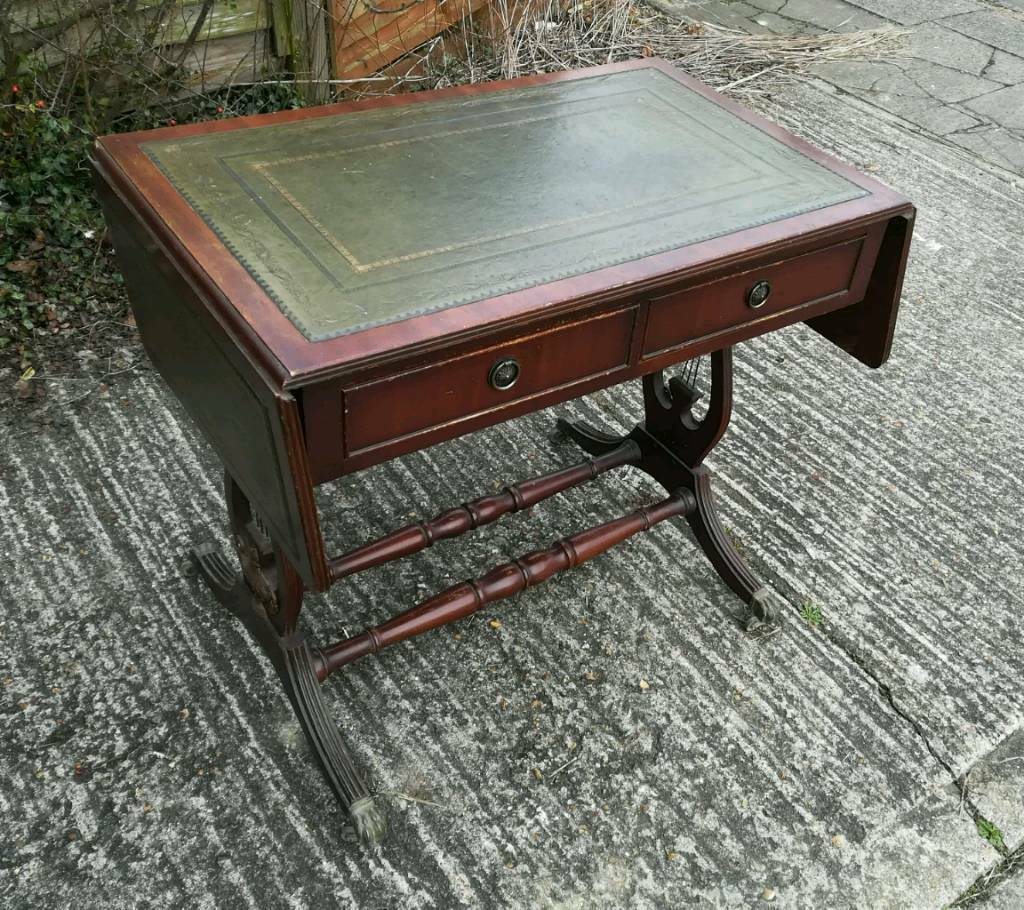 Antique Leather Top Table In Enfield London Gumtree