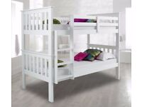 JUMBO OFFER''BRAZILIAN WOOD⚫High Quality Wooden Pine wood Bunk Bed Frame WITH OPTION FOR Mattress🔘