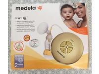 Medela swing breastpump with calma