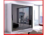 2 DOOR SLIDING WHITE WARDROBE AVAILABLE IN DIFFERENT SIZES AND PRICES
