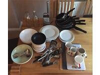 FREE TO A GOOD HOME SELECTION OF KITCHEN WARES! MUST GO TODAY!