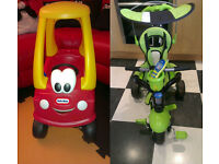 CAR (LITTLE TIKES) AND 3-IN-1-TRIKE (SMART TRIKE) £30ea or £50 for Both NEW/EXCELLENT USED CONDITION