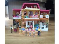 Fisher Price Loving Family Dolls House - Excellent Condition with People and Furniture
