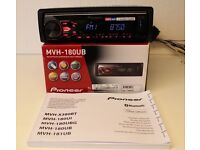 Pioneer MVH-180UB Mechless Car Stereo W/ USB input, Aux Input, Android