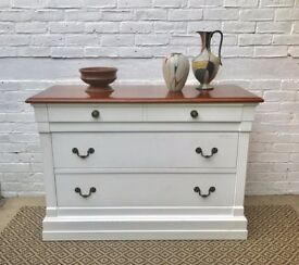 Commode Sideboard Cabinet with Wooden Top #207