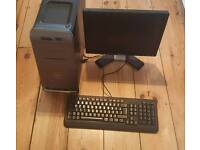 For sale is a Dell Studio XPS 7100 desktop PC and Dell monitor.