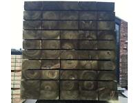 Pressure Treated Timber/ Wooden Railway Sleepers * Various Sizes *🌳