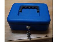 Blue Metal Cash Box