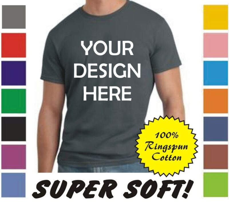 50 Custom Screen Printed COLOR Ringspun Cotton T-Shirts - $4.75 each