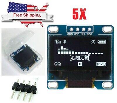 5pcs 0.96 White Oled I2c Iic Serial Lcd Led Arduino Display Module Ssd1306