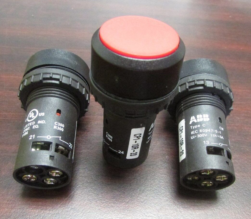 Кнопочные ABB PARAJUST Red Pushbutton CP1 10R 20