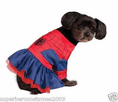 Hund Spiderman Kostüm (The Amazing Spider-Man Spider-Girl Marvel Comics Haustier Hund Kostüm Medium)