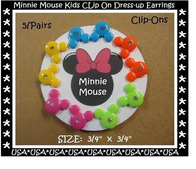 Minnie Mouse Ears Kids Dress Up Earrings Clip On Earrings Kids Birthday Favors