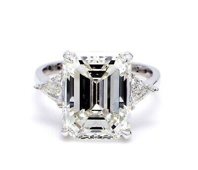 2.00 ct. 3 stone Emerald Diamond Engagement Ring w/ Trillion Cut GIA G VS1 14k