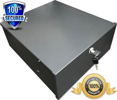 Dvr Security Lock Box (Metal CCTV DVR Security Box Recorder Safe Lock Box With 12V Fan 18x18x5 Medium )