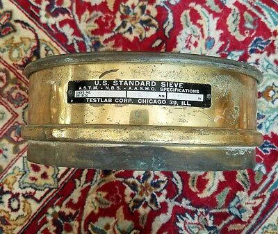 Vintage Brass Us Standard Sieve 3 Inch Testlab Corp. Free Shipping