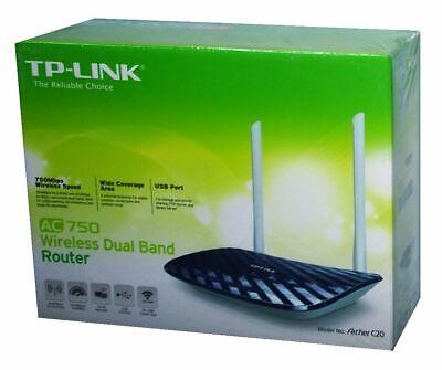 TP-Link AC750 Wireless Dual Band 2,4 & 5 GHz Router mit USB Port (Archer C20)