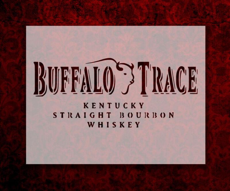 "Buffalo Trace Whiskey 8.5"" x 11"" Custom Stencil FAST FREE SHIPPING (651)"
