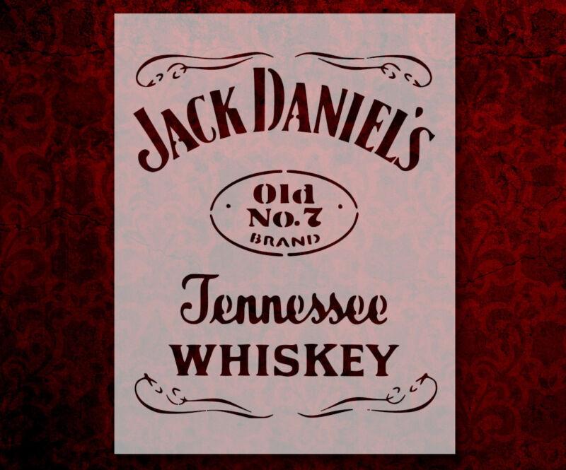 "Jack Daniels Whiskey 8.5"" x 11"" Custom Stencil FAST FREE SHIPPING (658)"