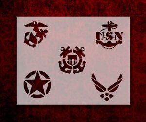 Military Army Air Force Navy Marines Coast Guard 11 x 8.5