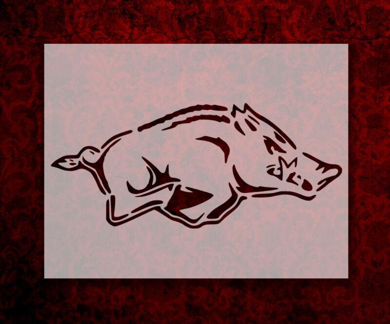"""Arkansas Razorbacks Razor Back Razorback 11"""" x 8.5"""" Stencil FREE SHIPPING (137)"""