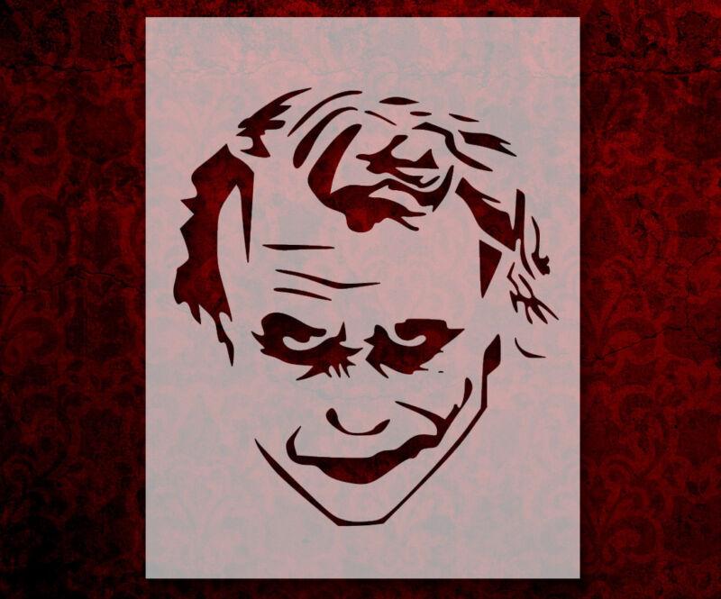 "Joker Modern Face 8.5"" x 11"" Stencil FAST FREE SHIPPING (554)"
