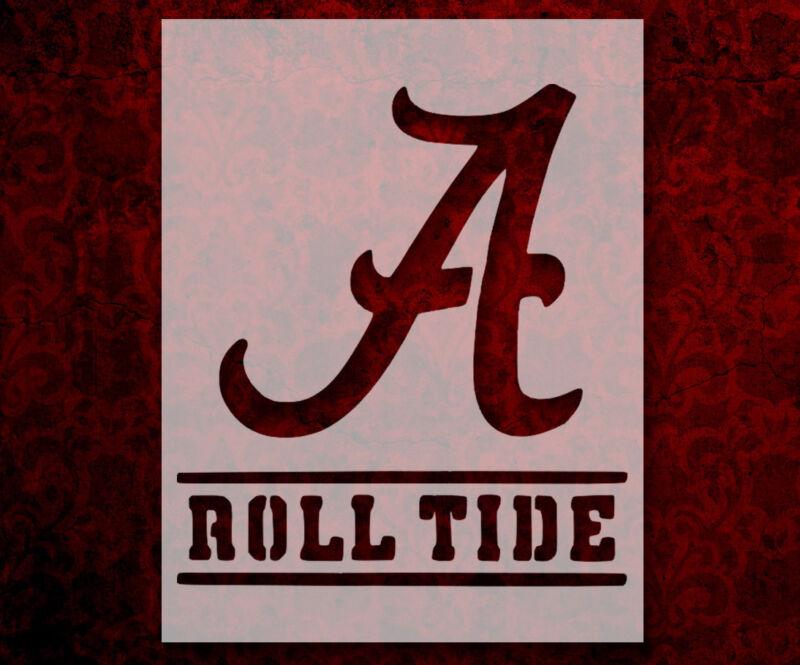 "Alabama Crimson Roll Tide 8.5"" x 11"" Custom Stencil FAST FREE SHIPPING (85)"