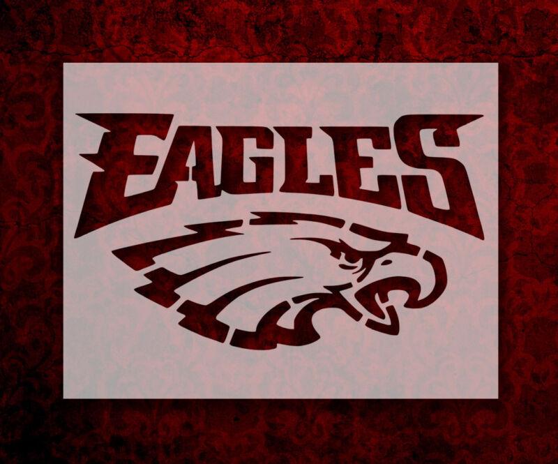 """Philadelphia Eagles 11"""" x 8.5"""" Custom Stencil FAST FREE SHIPPING (373)"""