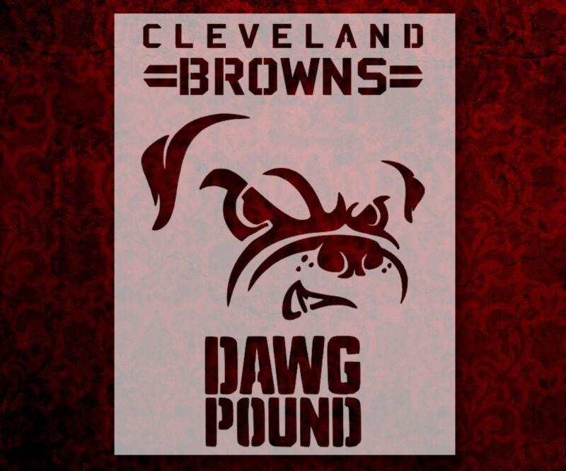 "Cleveland Browns Dog Dawg Pound 11"" x 8.5"" Custom Stencil FREE SHIPPING (24)"