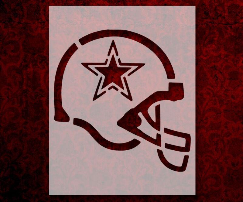 "Dallas Cowboys Football Helmet 8.5"" x 11"" Custom Stencil FAST FREE SHIPPING (33)"