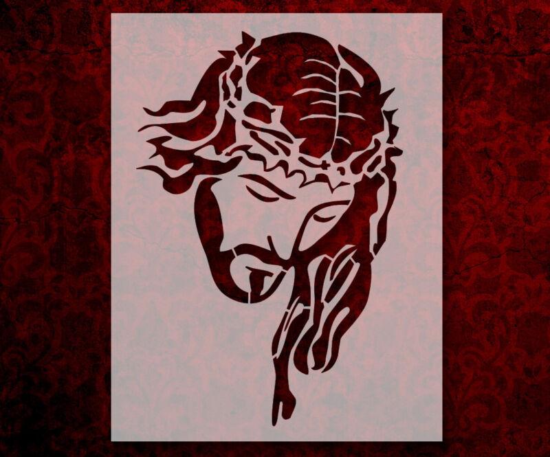 "Jesus Christ Crown Thorns 8.5"" x 11"" Stencil FAST FREE SHIPPING (553)"