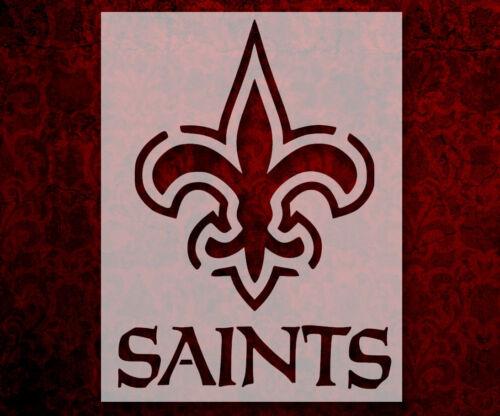 "New Orleans Saints 8.5"" x 11"" Custom Stencil FAST FREE SHIPPING (18)"