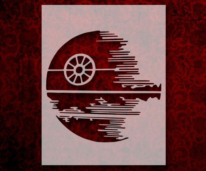 "Star Wars Death Star 11"" x 8.5"" Custom Stencil FAST FREE SHIPPING (169)"