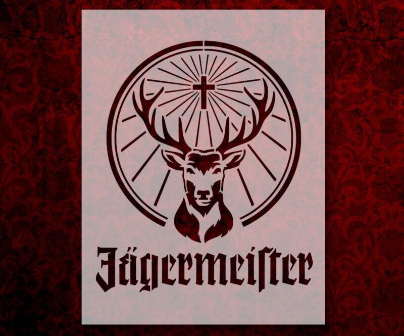 "Jagermeister 8.5"" x 11"" Custom Stencil FAST FREE SHIPPING (659)"