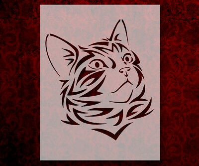 Cat Head Face Tribal 8.5